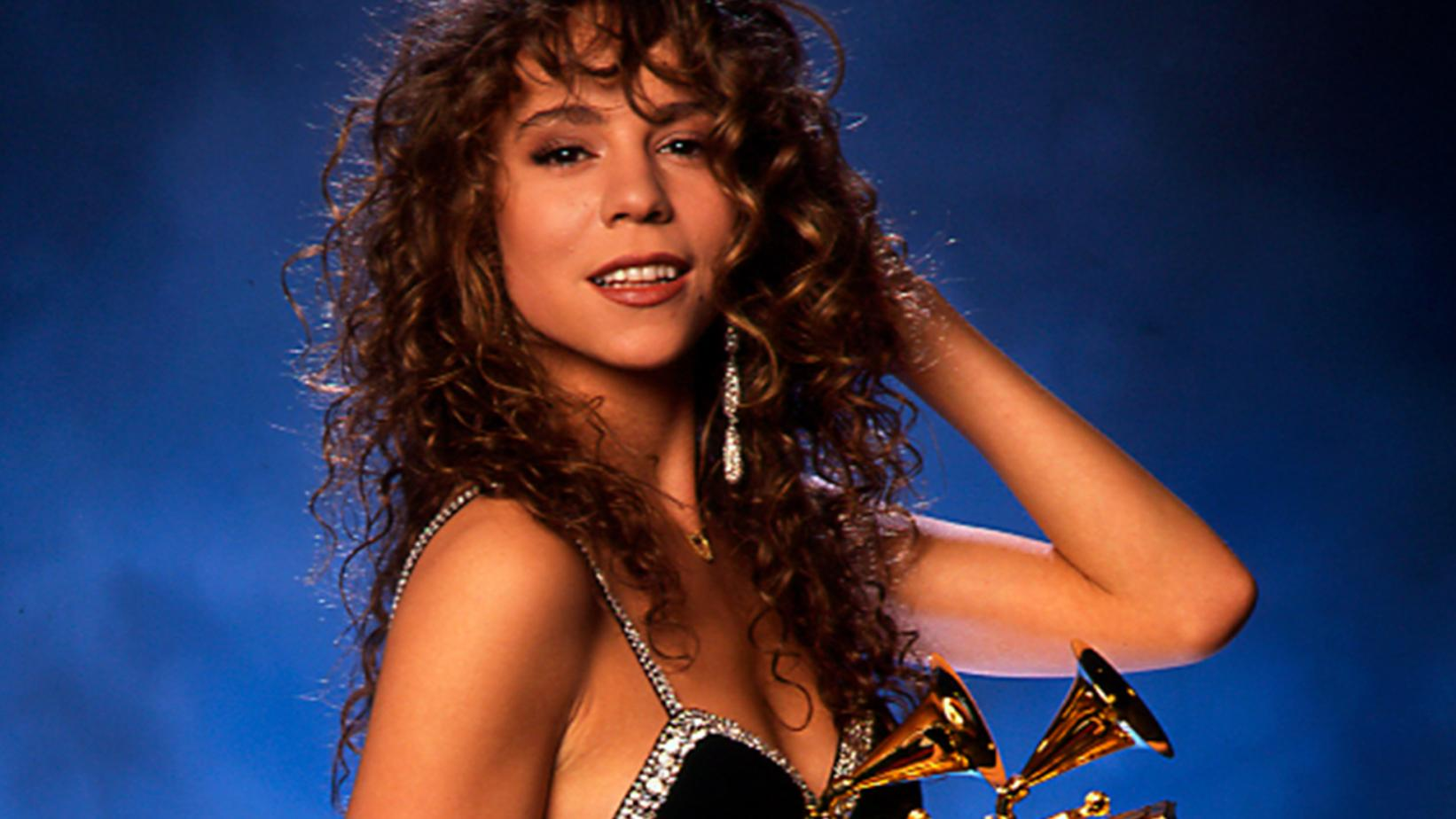 Mariah Carey at the 1991 GRAMMYs