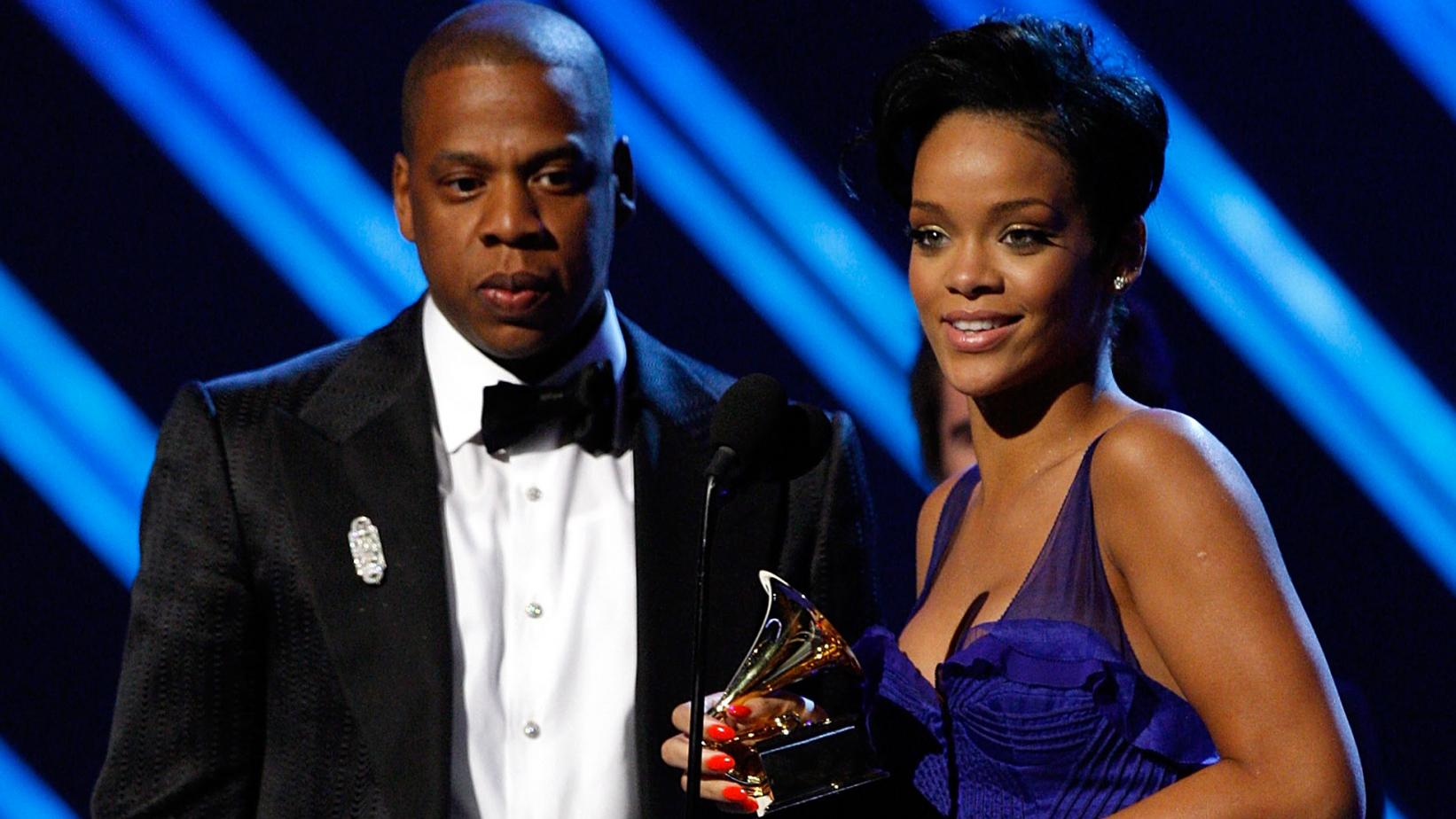 JAY-Z & Rihanna at the 2008 GRAMMYs