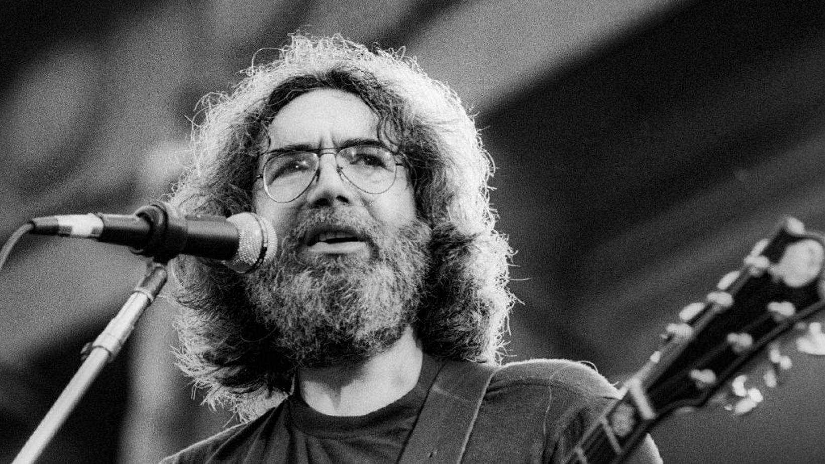 Jerry Garcia performs with the Grateful Dead in 1981