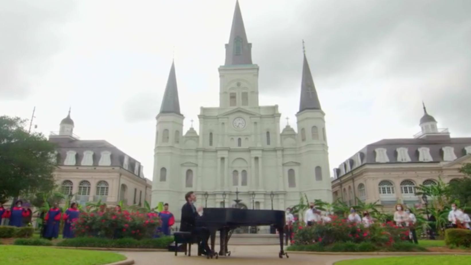 Harry Connick Jr. and friends in Jackson Square, New Orleans