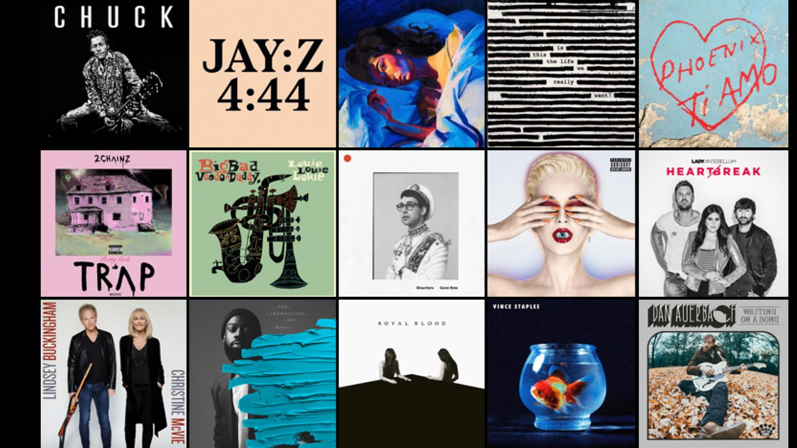 Album covers from new music released in June 2017