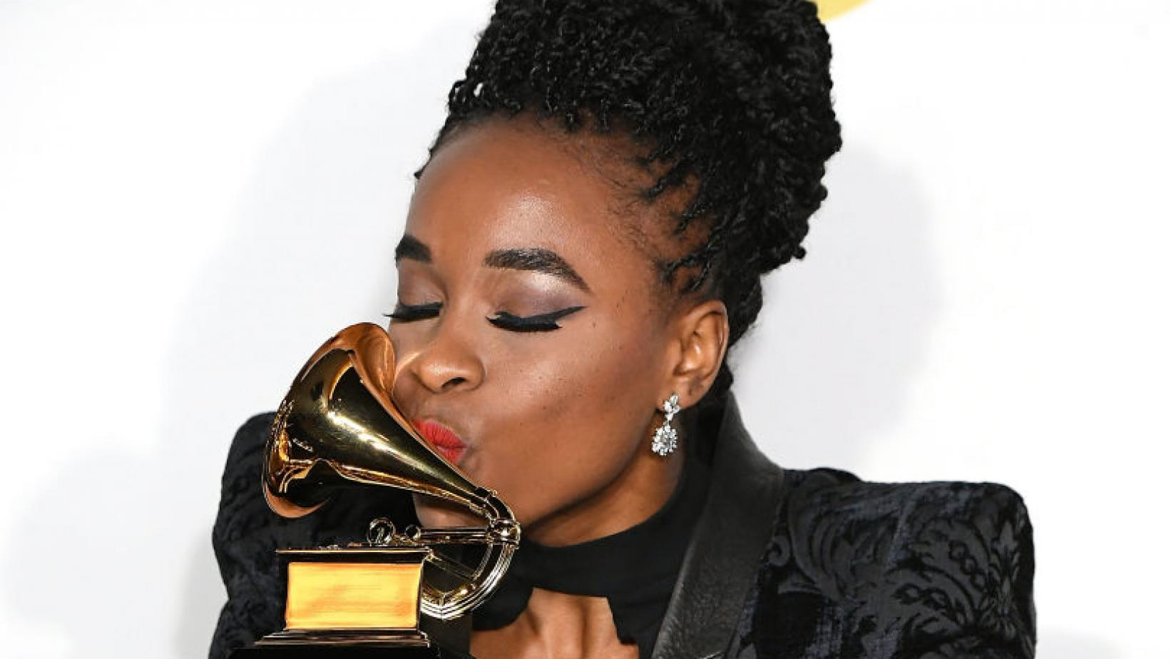Kristolyn Lloyd at 2018 GRAMMYs