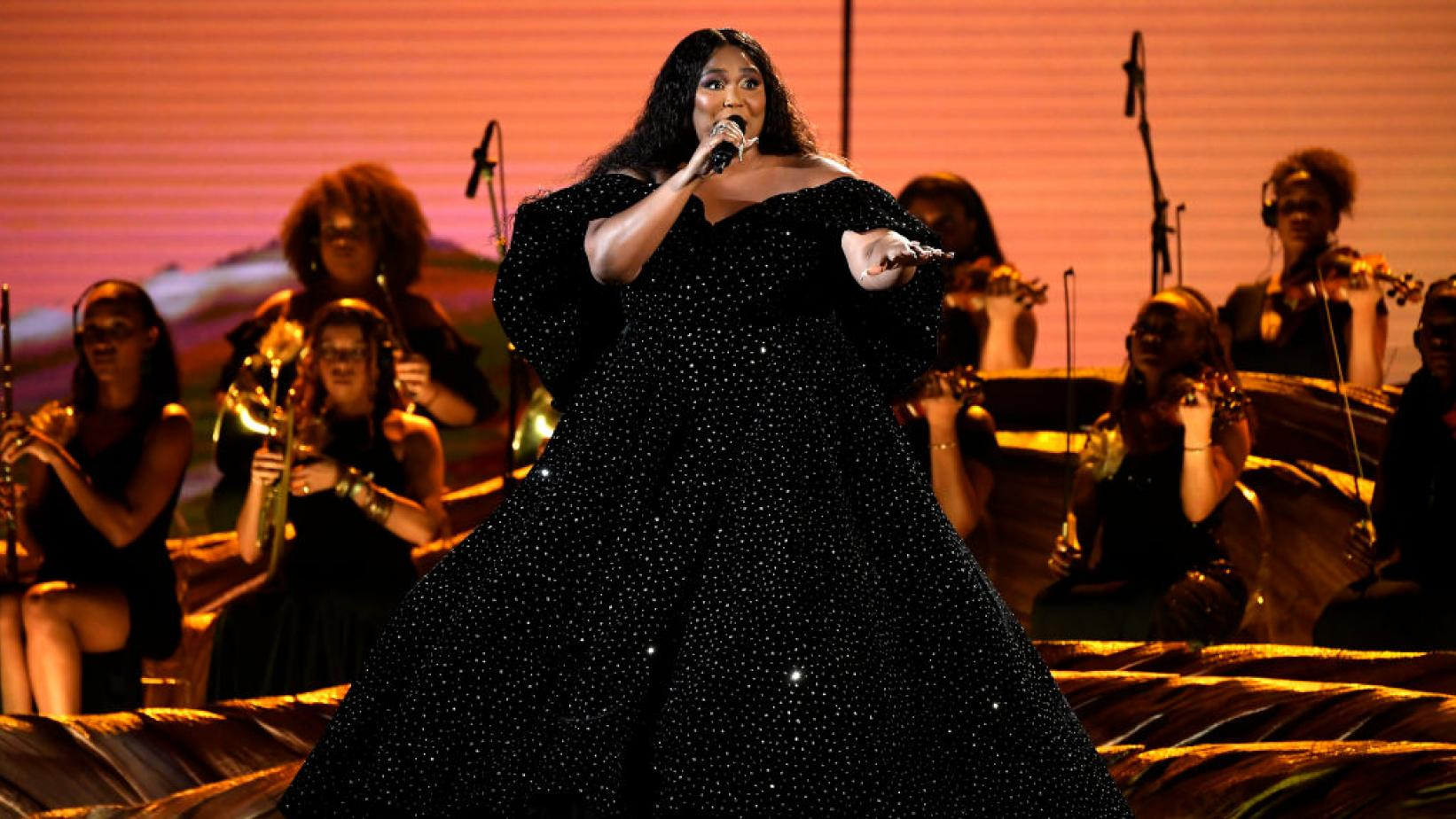 Lizzo performs at 2020 GRAMMYs