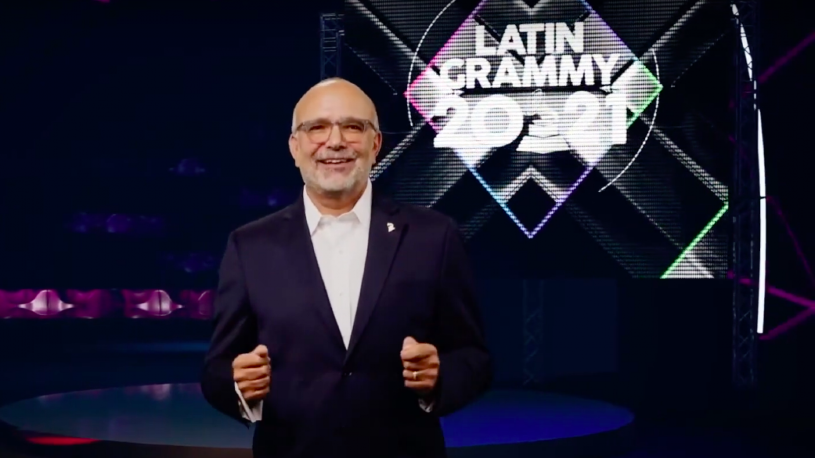 Latin Recording Academy CEO Manuel Abud at the 2021 Latin GRAMMYs nominations livestream event