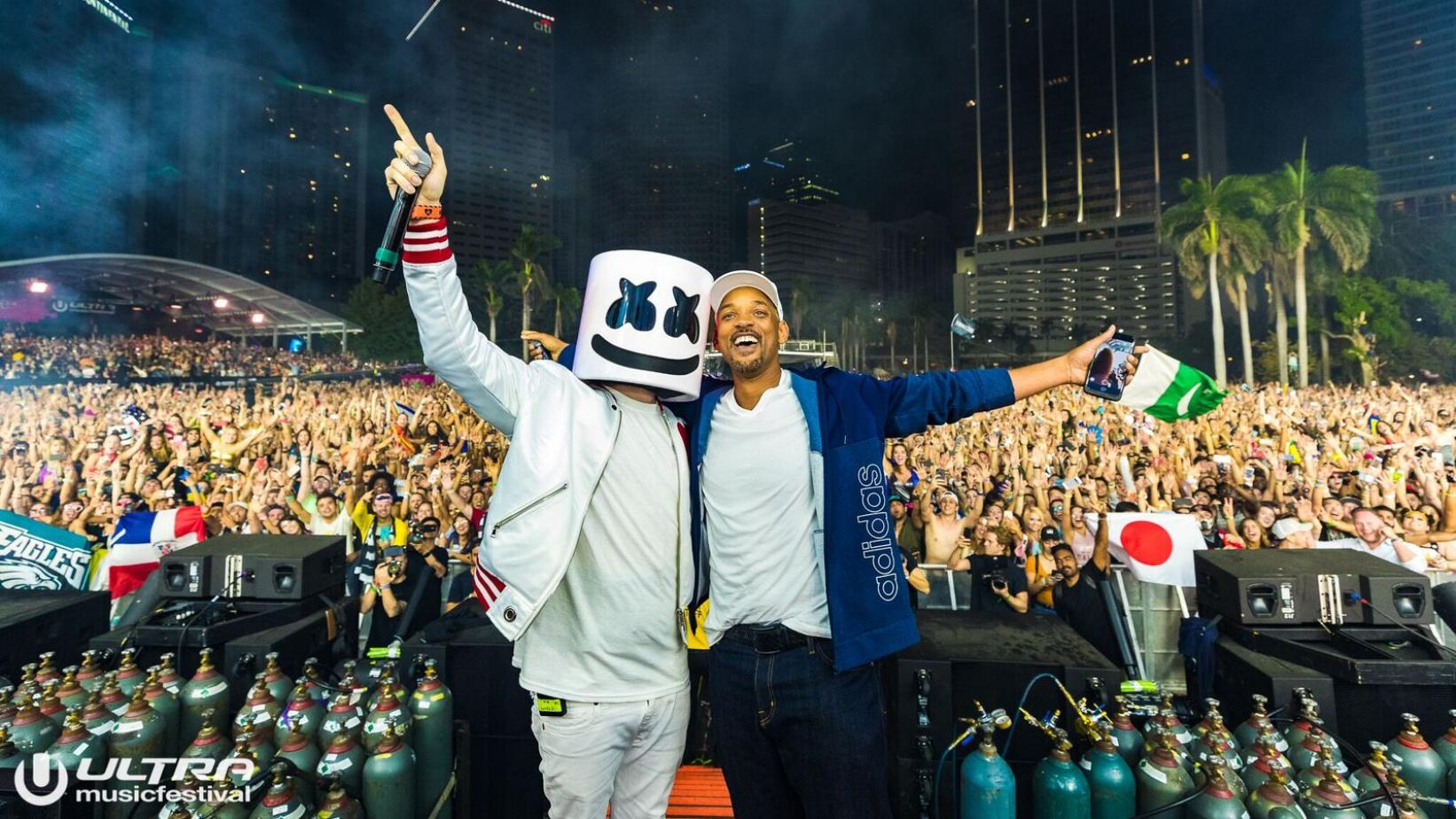 Will Smith, Marshmello at Ultra 2018