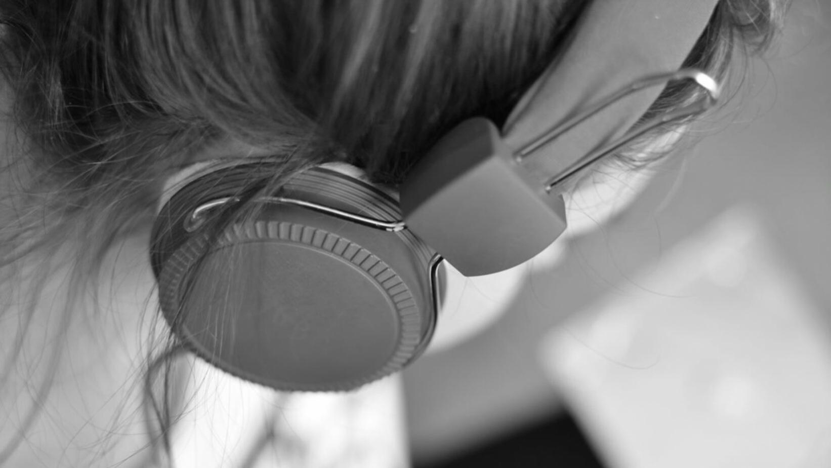 Photo of person with headphones