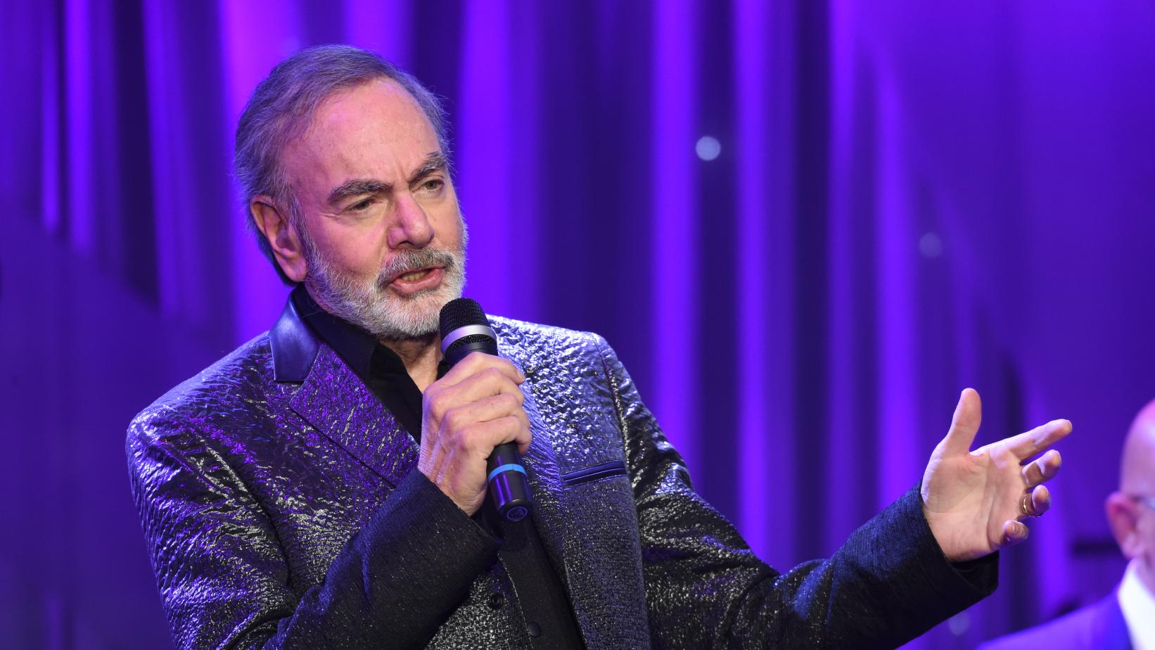 Neil Diamond performs at the Pre-GRAMMY Gala in 2017