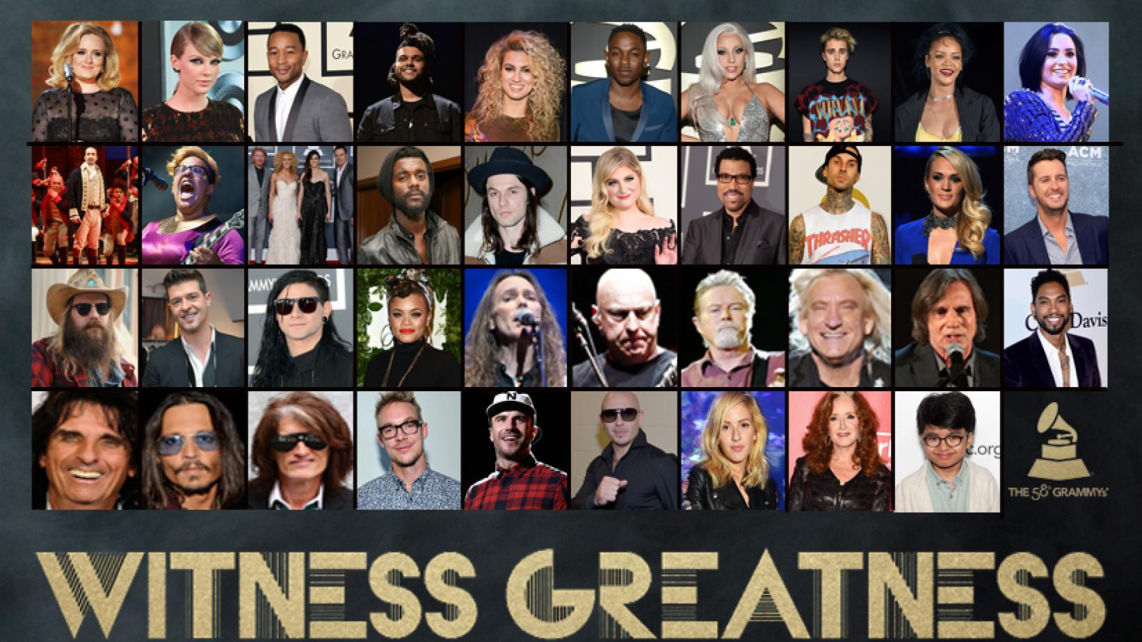 Performers for the 58th GRAMMY Awards