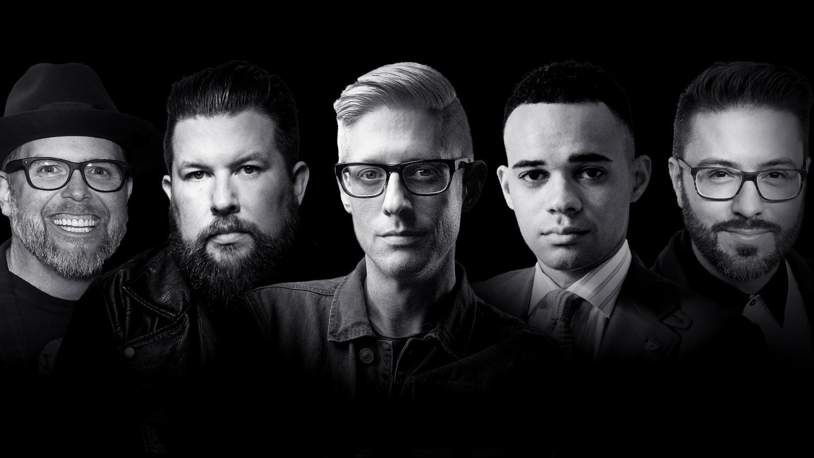 MercyMe's Bart Millard, Zach Williams, Matt Maher, Tauren Wells, and Danny Gokey
