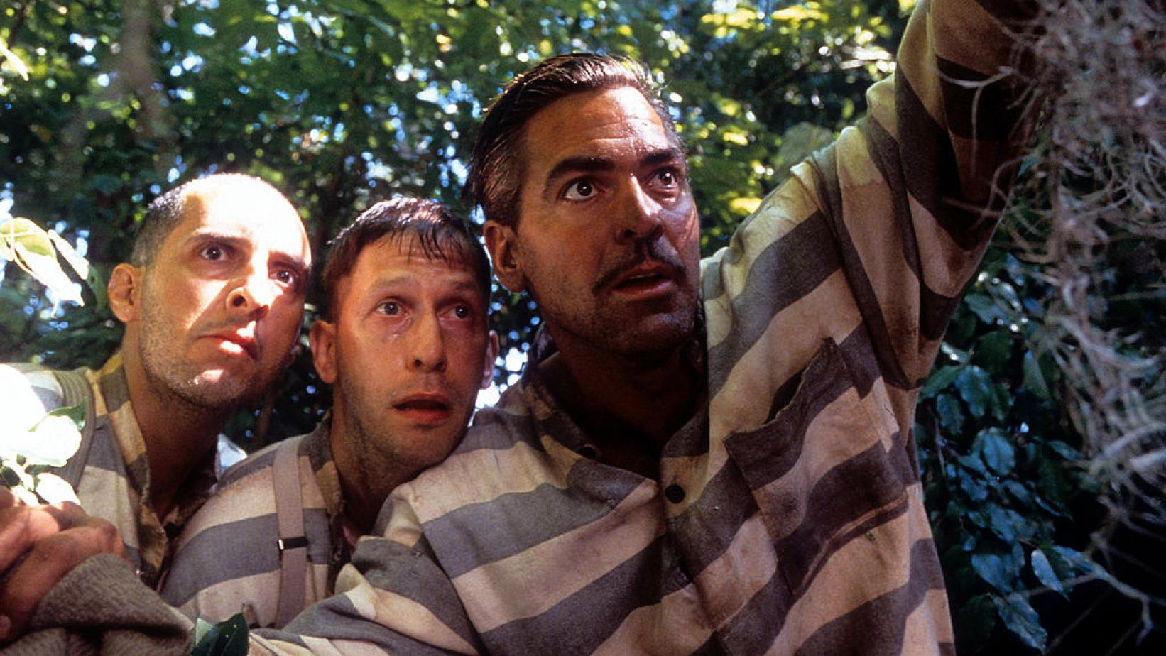 (L-R) John Turturro, Tim Blake Nelson and George Clooney in 'O Brother, Where Art Thou?'
