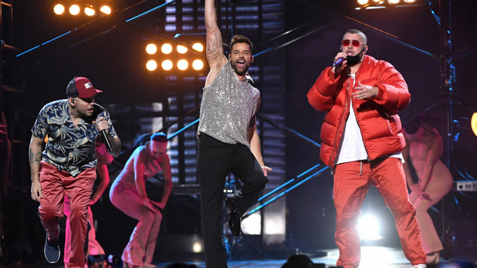 Residente, Ricky Martin & Bad Bunny perform at the 2019 Latin GRAMMYs