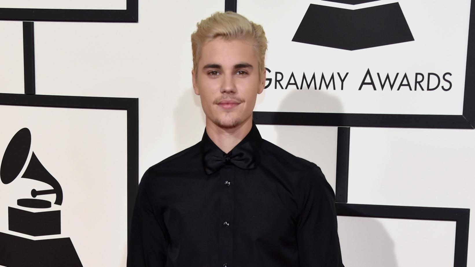 Justin Bieber at the 58th GRAMMY Awards