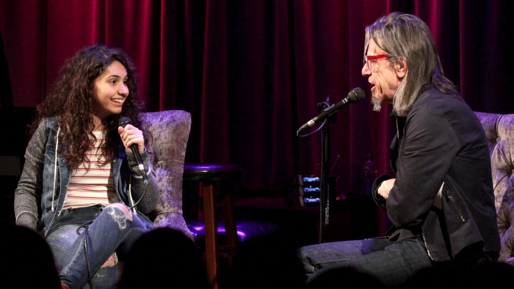 Alessia Cara and Scott Goldman at the GRAMMY Museum