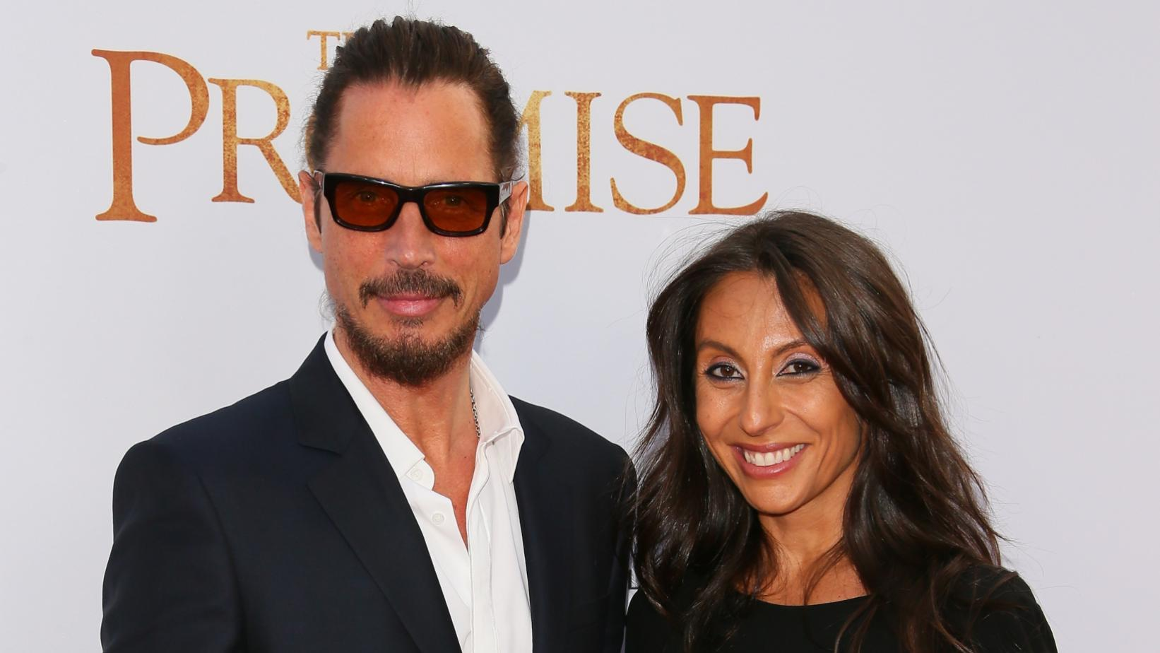 Chris Cornell and Vicky Cornell photographed in 2017