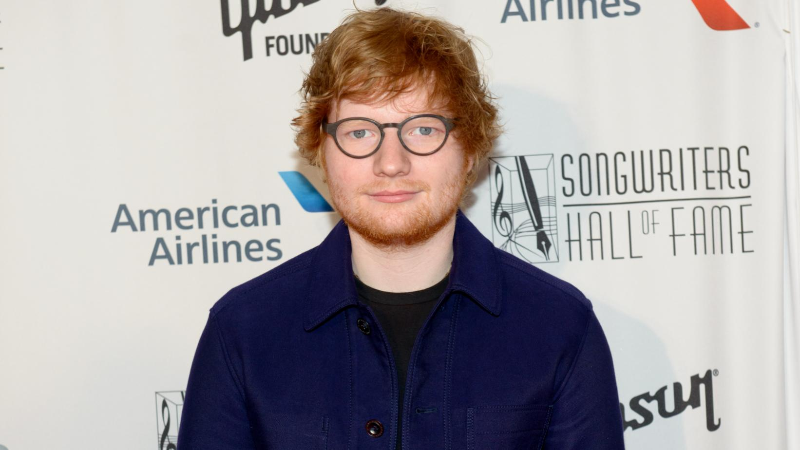 Ed Sheeran at the Songwriters Hall of Fame in 2017