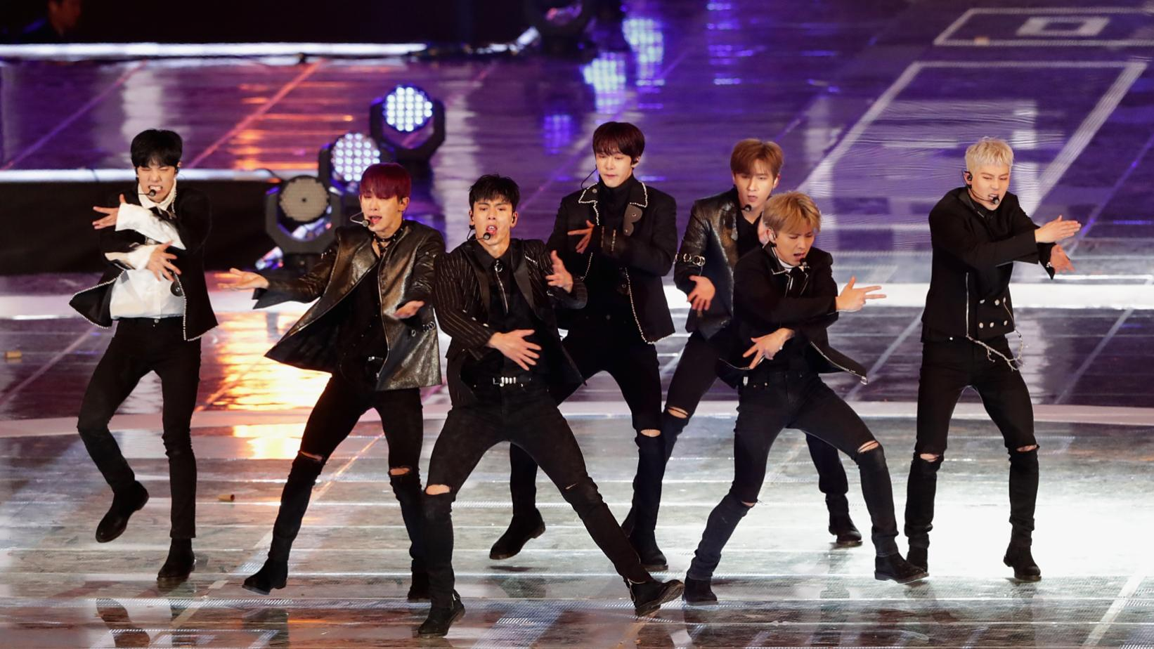 Monsta X photographed in 2017