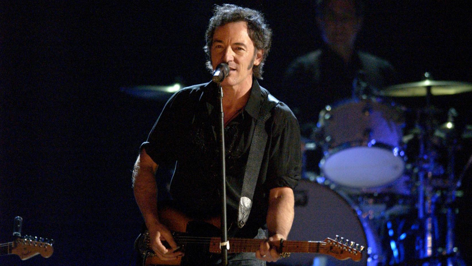 Bruce Springsteen performs at the 45th GRAMMYs