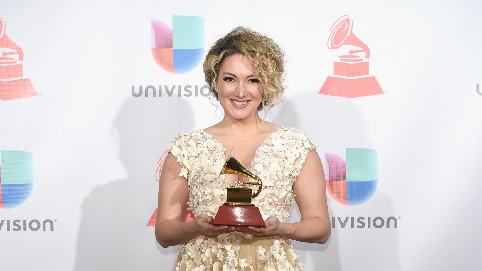 Erika Ender at the 18th Latin GRAMMY Awards