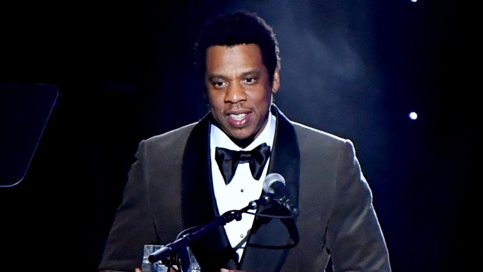 Jay-Z at the 2018 Pre-GRAMMY Gala
