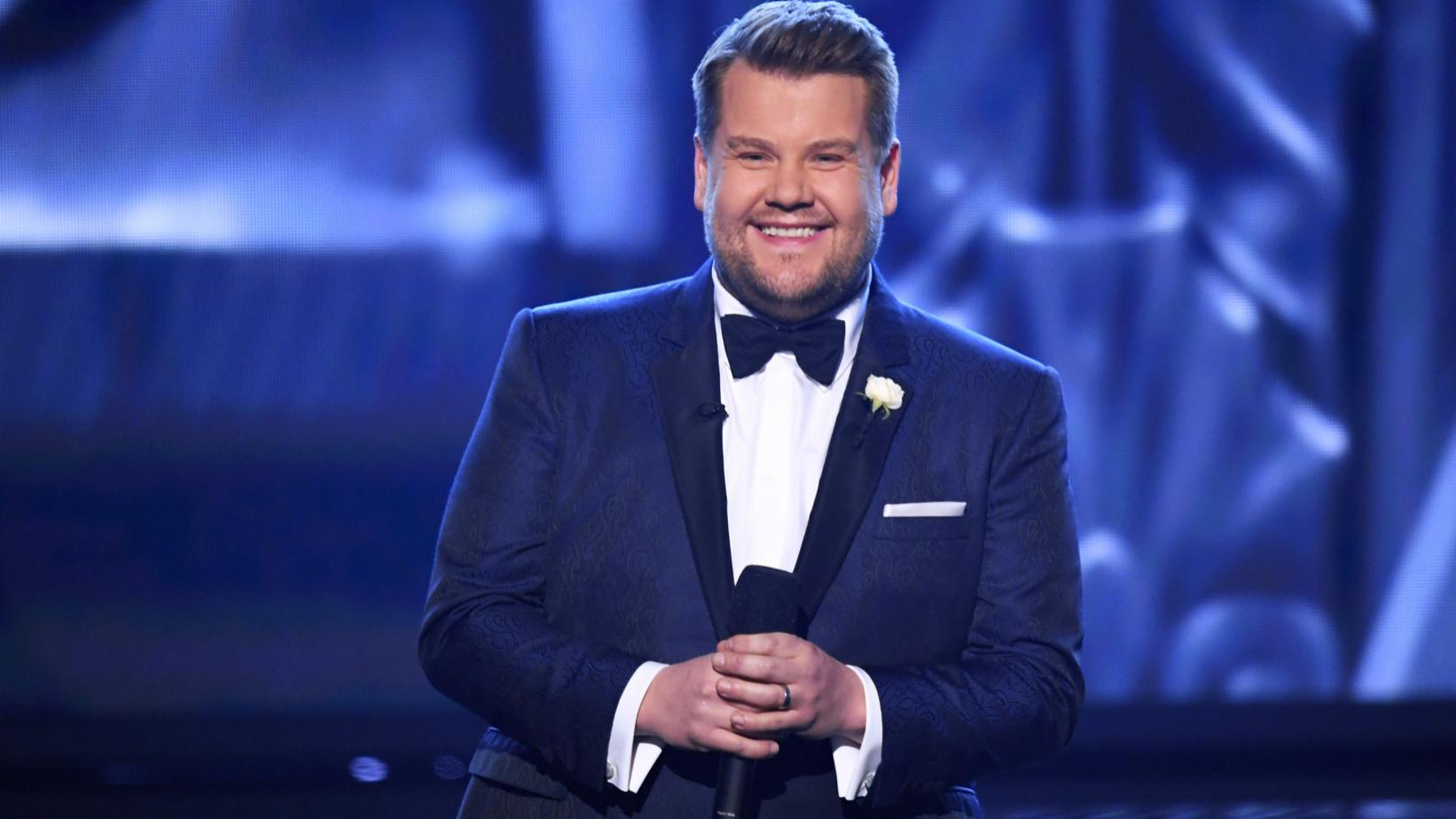 Host James Corden at the 60th GRAMMY Awards