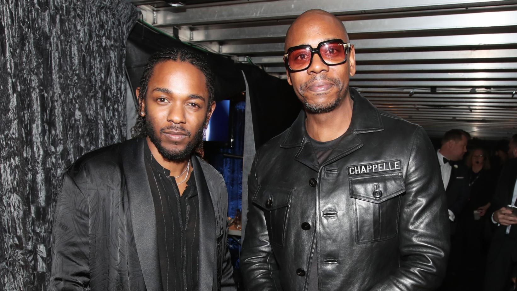Kendrick Lamar and Dave Chappelle at the 60th GRAMMY Awards