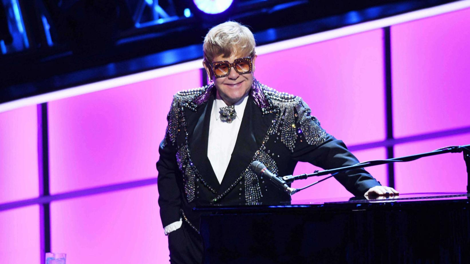 "Elton John photographed at ""Elton John: I'm Still Standing — A GRAMMY Tribute"""