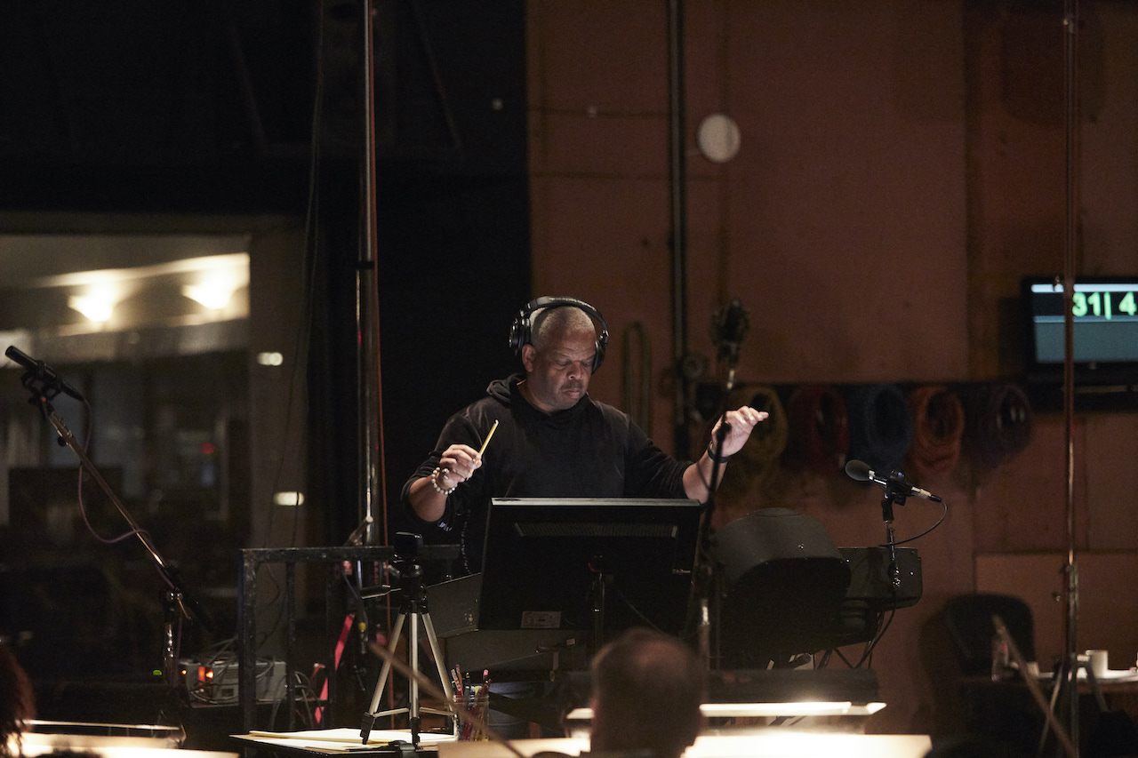 Terence Blanchard at a scoring session for 'Da 5 Bloods'