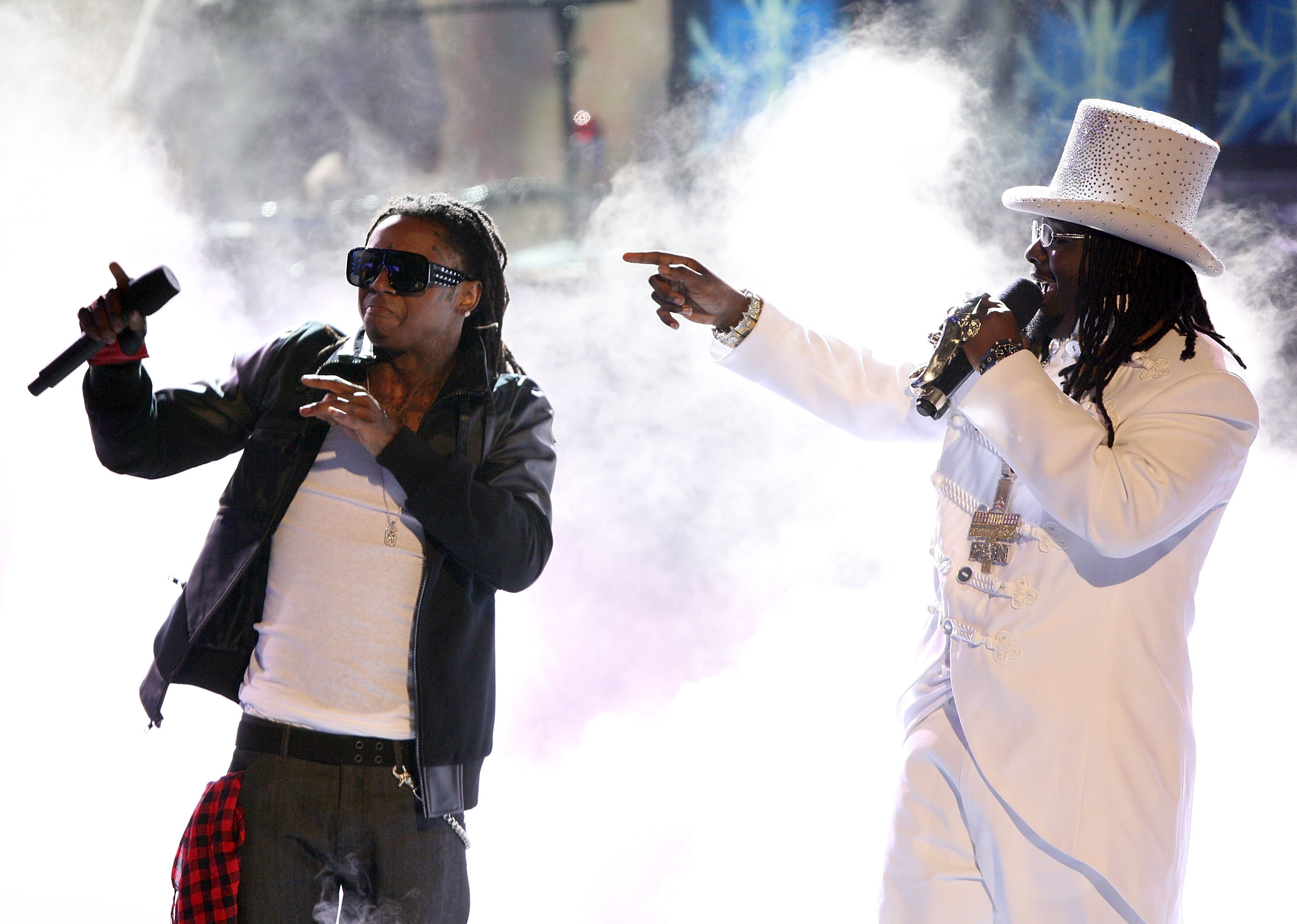 Lil Wayne and T-Pain perform at the 2008 BET Awards
