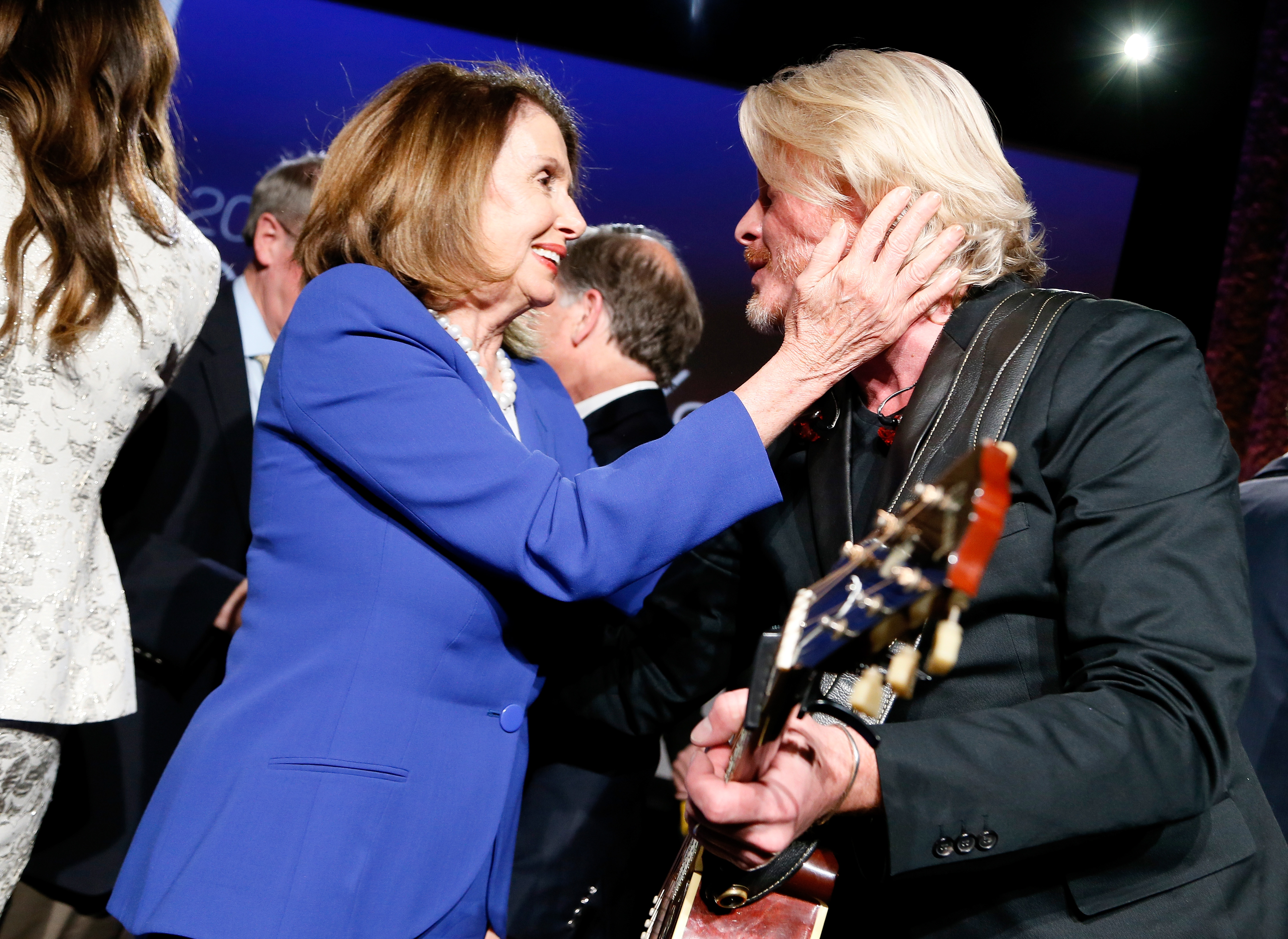 Nancy Pelosi and Little Big Town's Phillip Sweet at the 2018 GRAMMYs on the Hill Awards