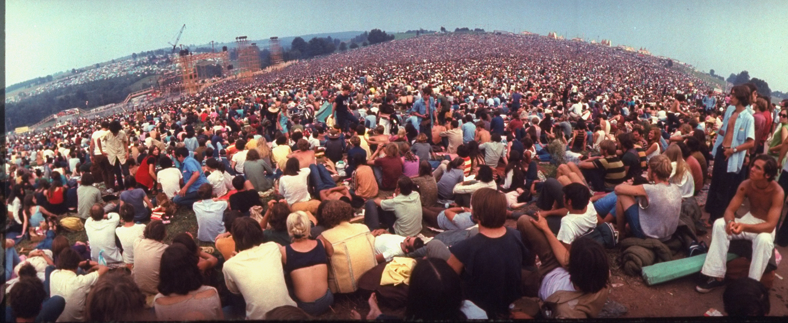 crowd at Woodstock 1969